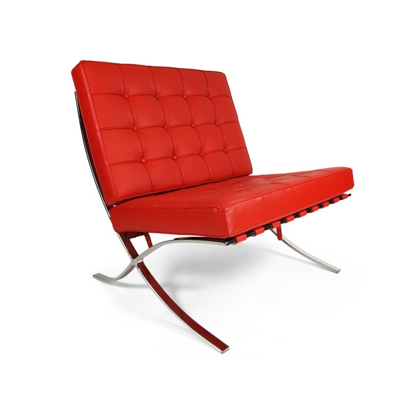 Fauteuil Barcelona rouge
