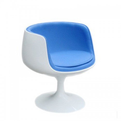 Cup chair bleue