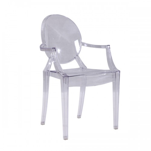 Chaise Ghost accoudoirs